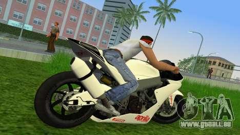 Aprilia RSV4 2009 White Edition II pour une vue GTA Vice City de la droite