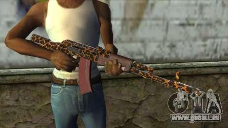 Graffiti AK47 pour GTA San Andreas troisième écran