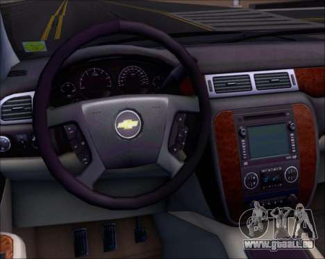 Chevrolet Silverado 2011 pour GTA San Andreas vue de dessous