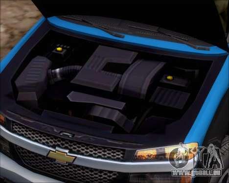 Chevrolet Colorado pour GTA San Andreas vue arrière