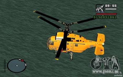 KA-27 N pour GTA San Andreas sur la vue arrière gauche