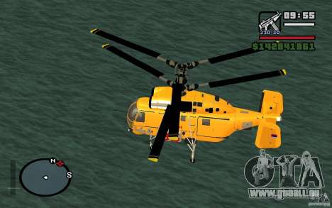 KA-27 N für GTA San Andreas zurück linke Ansicht