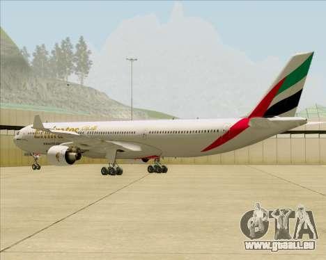 Airbus A330-300 Emirates für GTA San Andreas rechten Ansicht