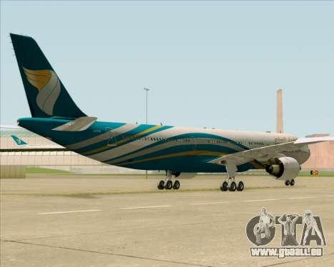 Airbus A330-300 Oman Air für GTA San Andreas Innenansicht