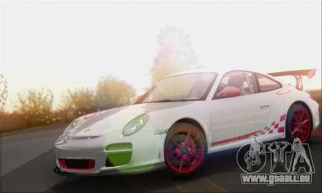 Porsche 911 GT3 2010 pour GTA San Andreas sur la vue arrière gauche