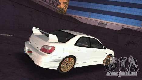 Subaru Impreza WRX 2002 Type 2 pour GTA Vice City vue latérale
