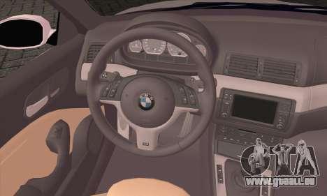 BMW M3 Cabrio für GTA San Andreas zurück linke Ansicht