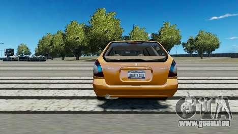 Daewoo Nubira I Wagon CDX US 1999 pour GTA 4 Vue arrière de la gauche