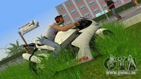 Aprilia RSV4 2009 White Edition II pour une vue GTA Vice City de la gauche