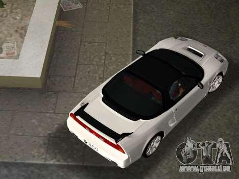 Honda NSX-R für GTA Vice City Ansicht von unten
