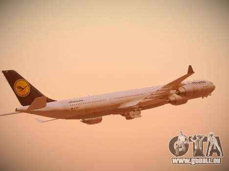 Airbus A340-600 Lufthansa pour GTA San Andreas vue de dessus