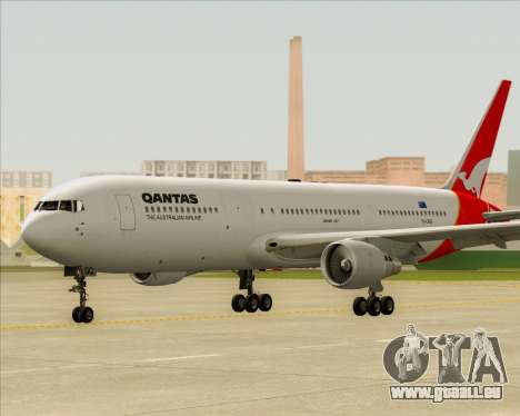 Boeing 767-300ER Qantas für GTA San Andreas obere Ansicht