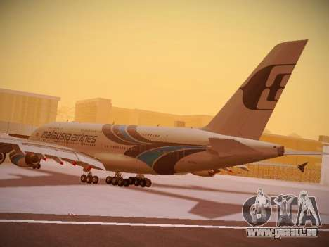 Airbus A380-800 Malaysia Airlines pour GTA San Andreas vue de dessous