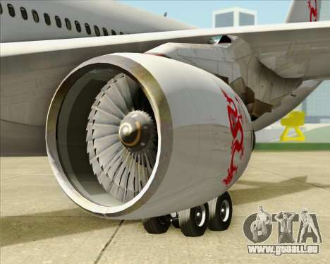 Airbus A330-300 Dragonair pour GTA San Andreas vue intérieure