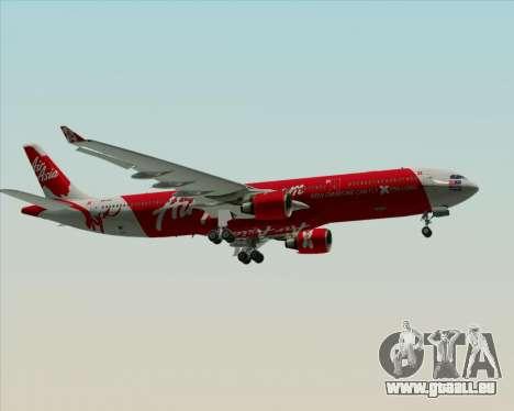 Airbus A330-300 Air Asia X für GTA San Andreas obere Ansicht