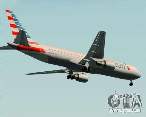 Boeing 767-323ER American Airlines pour GTA San Andreas vue arrière