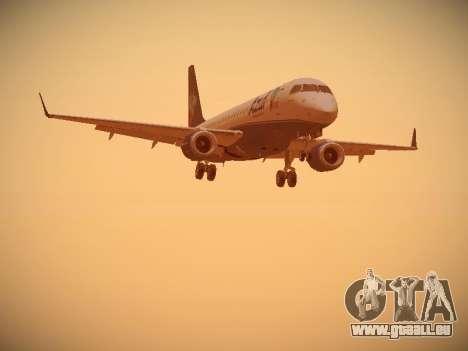 Embraer E190 Azul Brazilian Airlines für GTA San Andreas zurück linke Ansicht