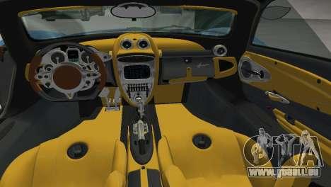 Pagani Huayra 2012 für GTA Vice City rechten Ansicht