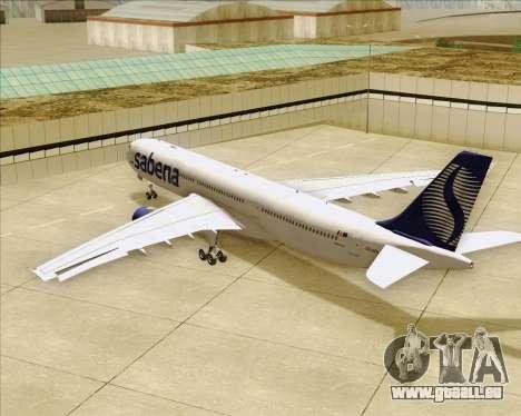 Airbus A330-300 Sabena für GTA San Andreas Räder