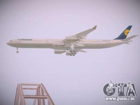 Airbus A340-600 Lufthansa für GTA San Andreas Seitenansicht