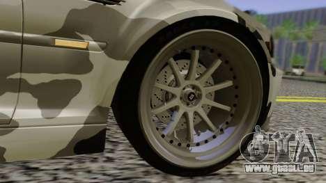 BMW M3 E46 Coupe 2005 Hellaflush v2.0 pour GTA San Andreas vue de dessous