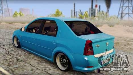 Dacia Logan BS GARAGE pour GTA San Andreas laissé vue