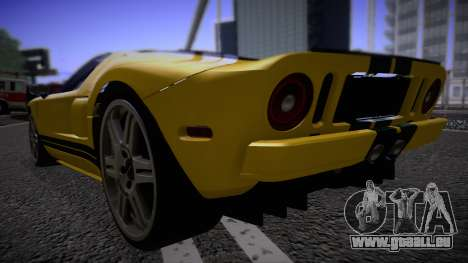 Ford GT 2005 Road version für GTA San Andreas zurück linke Ansicht