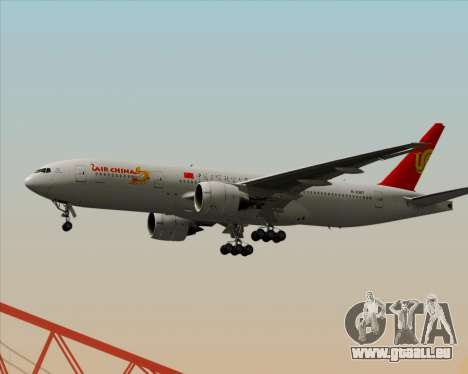 Boeing 777-200ER Air China für GTA San Andreas zurück linke Ansicht