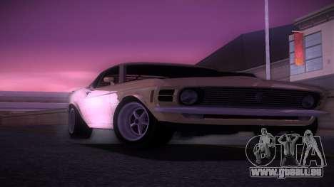 Ford Mustang 492 pour GTA Vice City sur la vue arrière gauche
