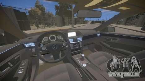 Mercedes-Benz E63 AMG для GTA 4 pour GTA 4 est une vue de l'intérieur