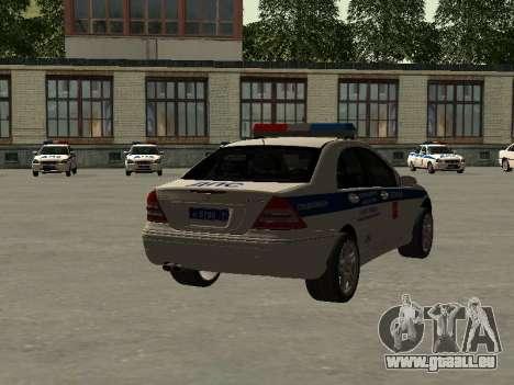 Mercedes-Dps für GTA San Andreas linke Ansicht
