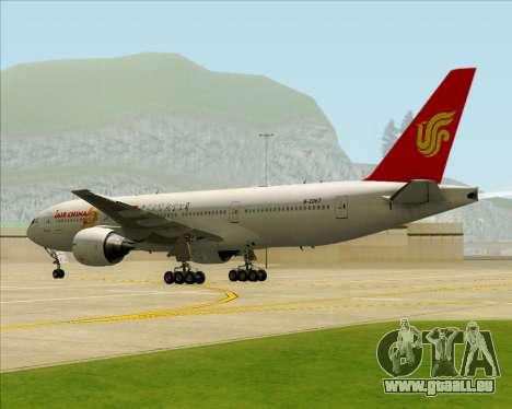 Boeing 777-200ER Air China für GTA San Andreas Unteransicht