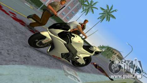 Aprilia RSV4 2009 White Edition II pour GTA Vice City vue arrière