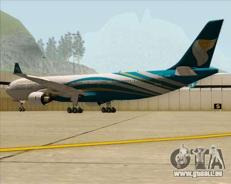 Airbus A330-300 Oman Air für GTA San Andreas Rückansicht
