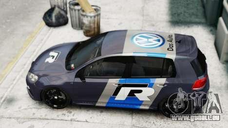 Volkswagen Golf R 2010 Polo WRC Style PJ2 pour GTA 4 Vue arrière de la gauche