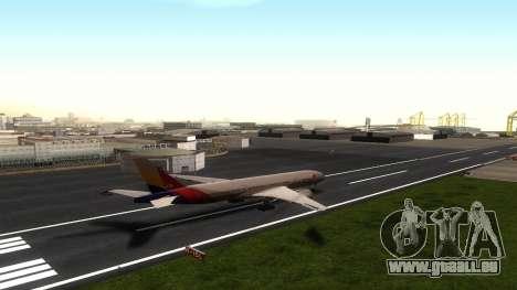 Boeing 777-280ER Asiana Airlines für GTA San Andreas Rückansicht