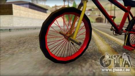 BMX pour GTA San Andreas sur la vue arrière gauche