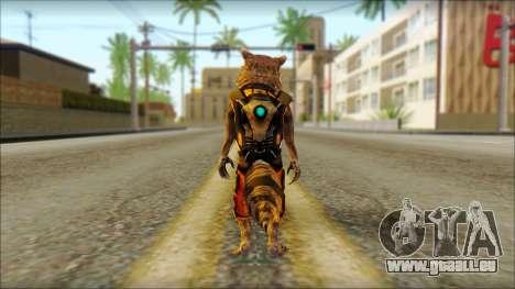 Guardians of the Galaxy Rocket Raccoon v2 für GTA San Andreas zweiten Screenshot