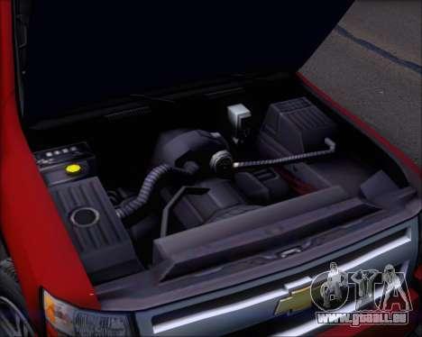 Chevrolet Silverado 2011 pour GTA San Andreas vue de dessus
