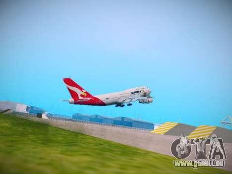 Boeing 747-438 Qantas Boxing Kangaroo für GTA San Andreas rechten Ansicht