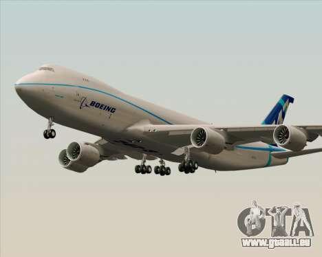 Boeing 747-8 Cargo House Livery pour GTA San Andreas sur la vue arrière gauche