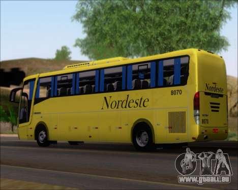 Busscar Elegance 360 Viacao Nordeste 8070 pour GTA San Andreas laissé vue