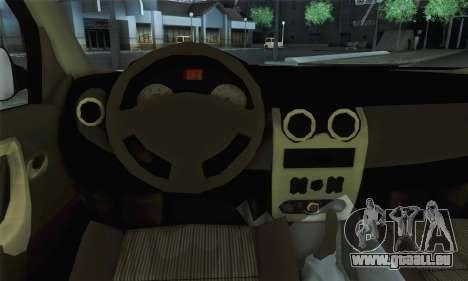 Dacia Logan 1.6 Street für GTA San Andreas zurück linke Ansicht