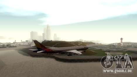 Boeing 777-280ER Asiana Airlines pour GTA San Andreas vue de droite