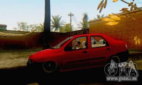 Fiat Siena 1998 für GTA San Andreas zurück linke Ansicht