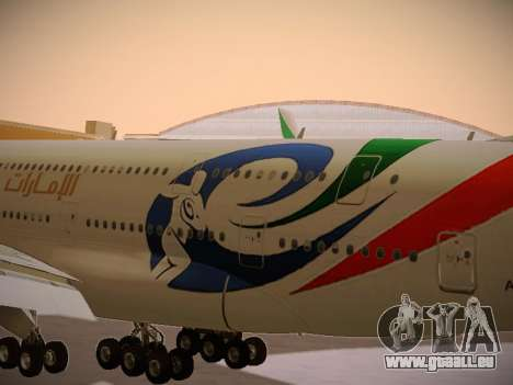 Airbus A380-800 Emirates Rugby World Cup für GTA San Andreas Innenansicht