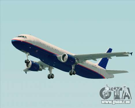 Airbus A320-232 United Airlines (Old Livery) pour GTA San Andreas roue