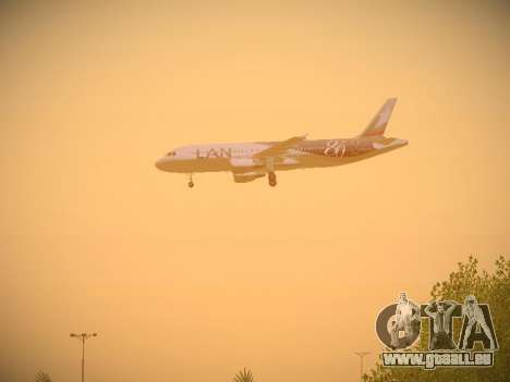 Airbus A320-214 LAN Airlines 80 Years pour GTA San Andreas roue