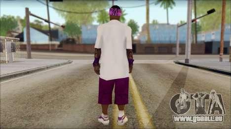 East Side Ballas Skin 1 pour GTA San Andreas deuxième écran