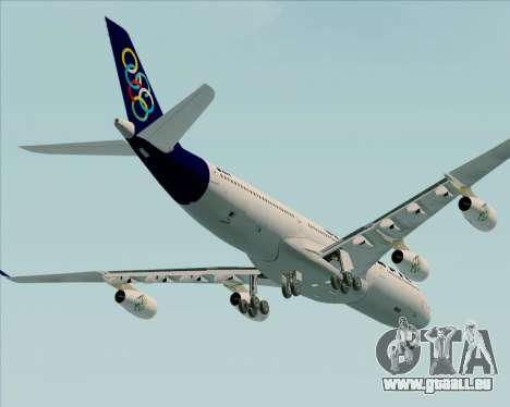 Airbus A340-313 Olympic Airlines pour GTA San Andreas vue de dessus